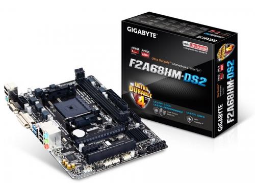 Материнская плата GIGABYTE GA-F2A68HM-DS2 (mATX, Socket FM2/2+, A68H, 2xDDR3, SATA-III, D-Sub DVI-D, USB3.0, PS/2), вид 4