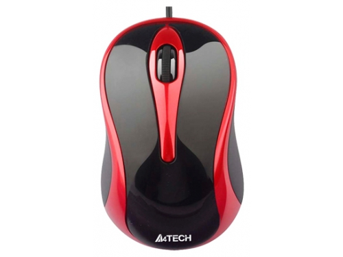 Мышь A4Tech N-350, черная / красная, вид 1