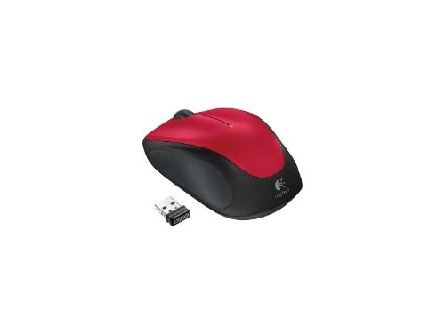 Мышь Logitech Wireless Mouse M235, красная, вид 1