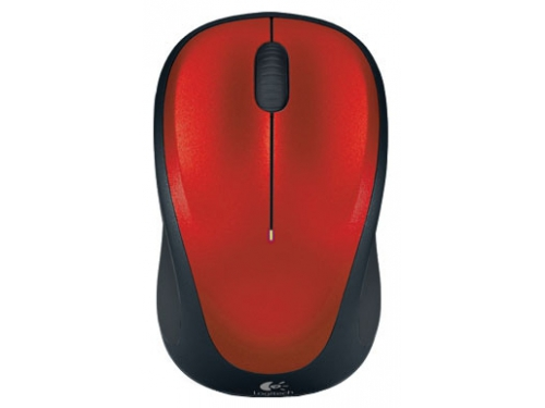 Мышка Logitech Wireless Mouse M235 Red-Black USB, вид 2