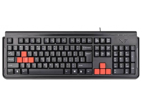 Клавиатура A4Tech X7-G300 Can-Be-Washed Gaming Black PS/2, вид 1