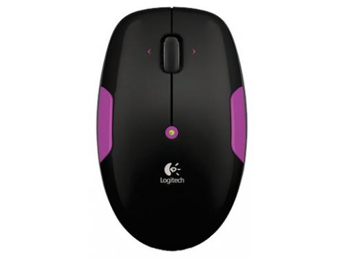Мышь Logitech Wireless Mouse M345 Black-Lilac USB, вид 1