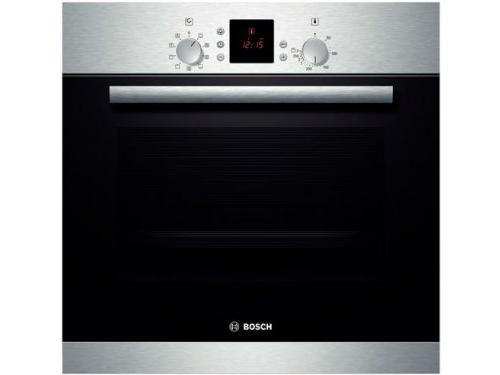 Духовой шкаф Bosch HBN331E1S, серебристый, вид 1