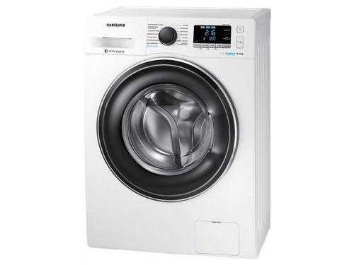 Машина стиральная Samsung WW80K62E07W, белая, вид 1