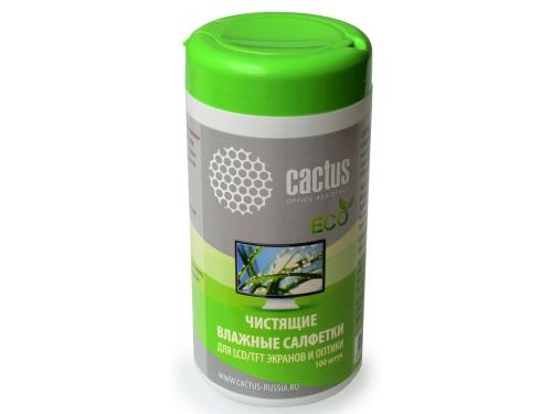 Чистящая принадлежность для ноутбука Влажные салфетки Cactus CS-T1001E, вид 1