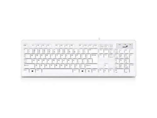 Клавиатура Genius SlimStar 130 USB, белая, вид 1