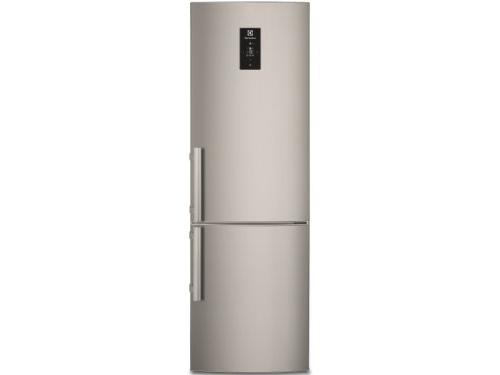 Холодильник Electrolux EN 3486 MOX, серебристый, вид 1
