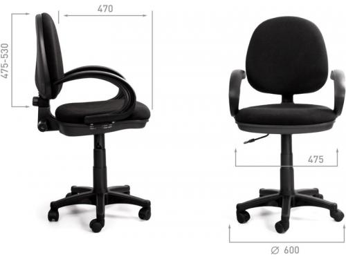 Компьютерное кресло Recardo Operator, чёрное, вид 3