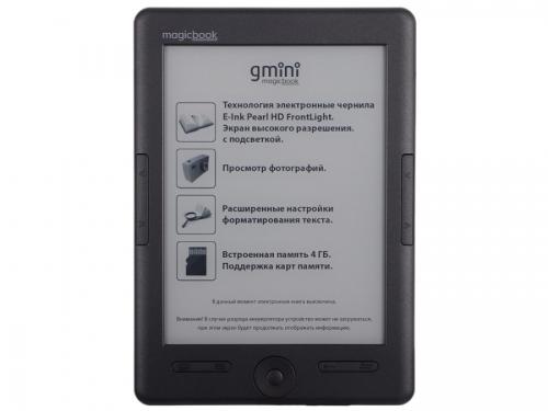 Электронная книга Gmini MagicBook S6LHD, графит, вид 1