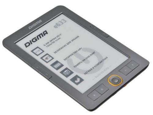 Электронная книга Digma e633, серая, вид 1