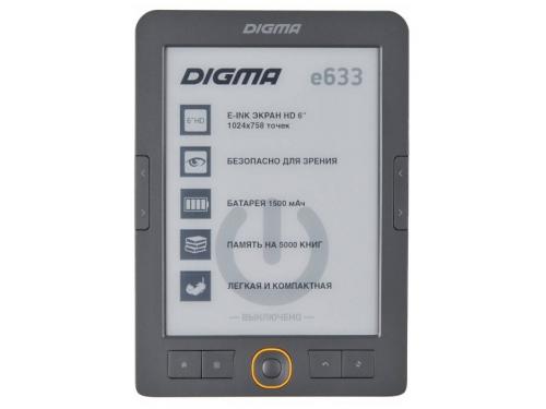 Электронная книга Digma e633, серая, вид 2