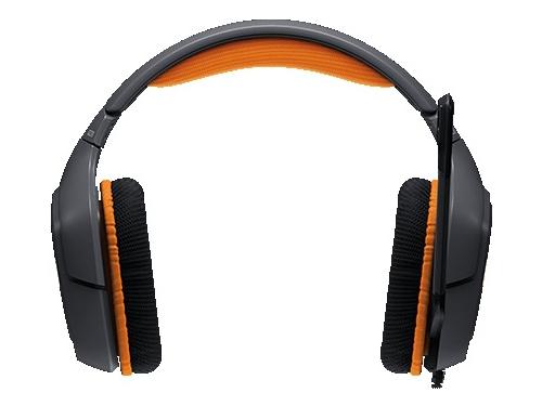 Гарнитура для ПК Logitech G231 Prodigy Gaming Headset, черно-оранжевая, вид 1