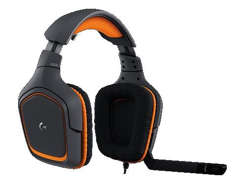 Гарнитура для ПК Logitech G231 Prodigy Gaming Headset, черно-оранжевая, вид 2