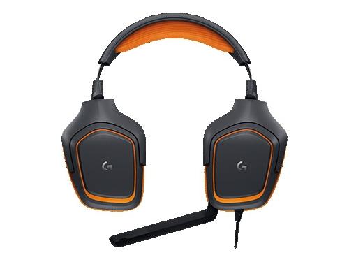 Гарнитура для ПК Logitech G231 Prodigy Gaming Headset, черно-оранжевая, вид 4