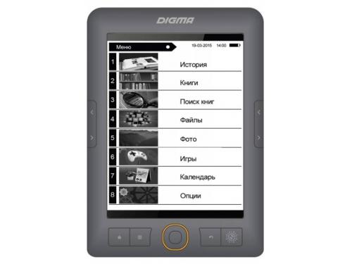 Электронная книга Digma r663, серая, вид 1