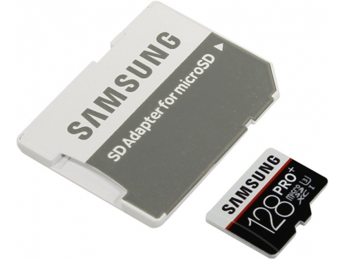 Карта памяти Samsung Pro Plus MB-MD128DA 128Gb, с адаптером, вид 1
