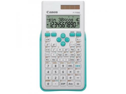 Калькулятор Canon F-715SG-WHB, бело-голубой, вид 1