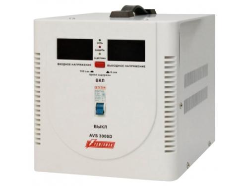 Стабилизатор напряжения PowerMan AVS 3000D 3000VA (релейный), вид 1
