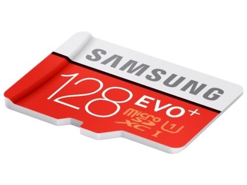 Карта памяти Samsung EVO Plus microSDXC Memory Card 128Gb Class10 UHS-I U1+ microSD--> SD Adapter, вид 1