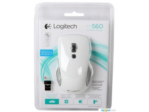 Мышка Logitech M560 Cordless Wireless USB (910-003914) белая, вид 3