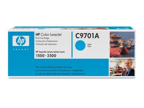 Картридж Hewlett-Packard C9701A для HP Color LaserJet 1500, 2500, голубой, вид 1