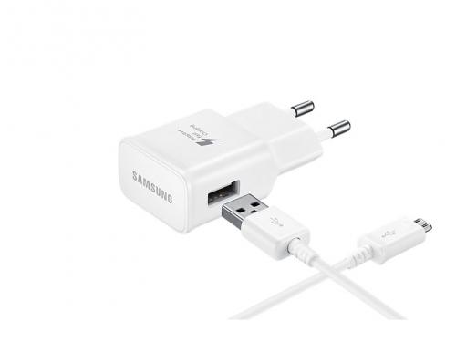 Зарядное устройство Samsung 2A (EP-TA20EWECGRU) белое, вид 1