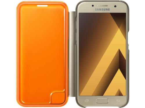 Чехол для смартфона Samsung для Samsung Galaxy A3 (2017) Neon Flip Cover, золотистый, вид 1