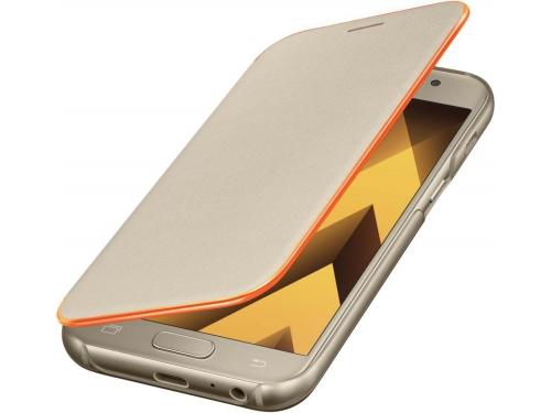 Чехол для смартфона Samsung для Samsung Galaxy A3 (2017) Neon Flip Cover, золотистый, вид 2