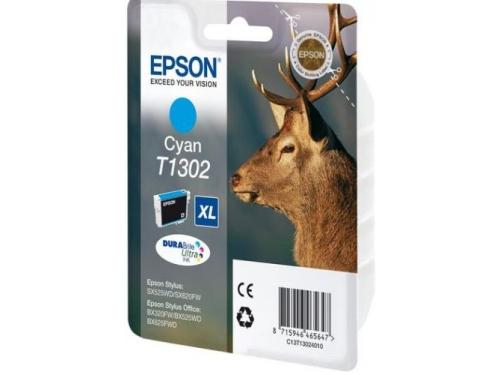 Картридж для принтера Epson T1302 XL, голубой, вид 1