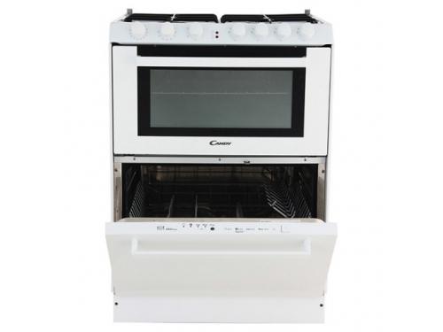 Плита Candy Trio 9501/1 W (газоэлектрическая, со встроенной посудомоечной машиной), белая, вид 2