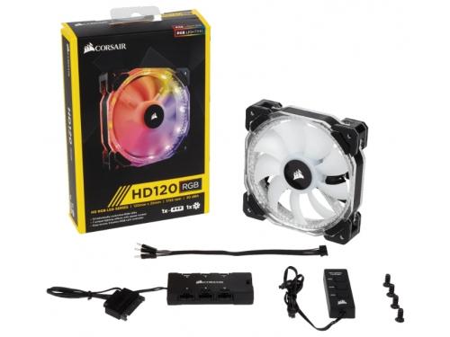 Кулер Corsair HD120 RGB CO-9050066-WW (светодиодная подсветка), вид 1