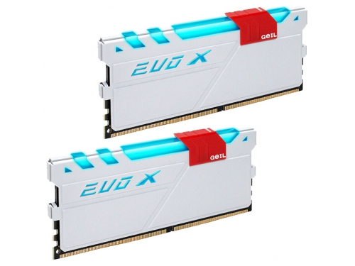 Модуль памяти GeIL EVO X 2x4Gb DDR4, 2133MHz, CL15, DIMM (GEXW48GB2133C15DC), белый, вид 1