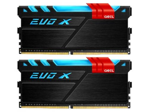 Модуль памяти GeIL EVO X 2x16Gb DDR4, 2133MHz, CL15, DIMM (GEX432GB2133C15DC), чёрный, вид 1