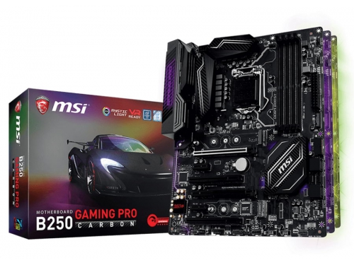 Материнская плата MSI B250 Gaming PRO Carbon (ATX, LGA1151, Intel B250, 4x DDR4), вид 5