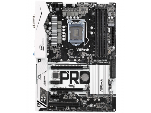 Материнская плата ASRock H270 PRO4 (ATX, LGA1151, Intel H270, 4xDDR4), вид 1