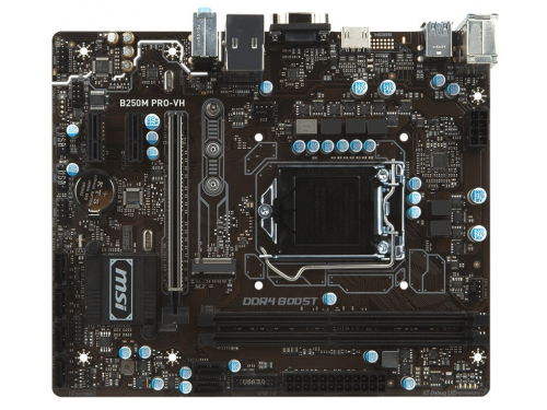 Материнская плата MSI B250M PRO-VH (mATX, LGA1151, Intel B250, 2xDDR4), вид 1