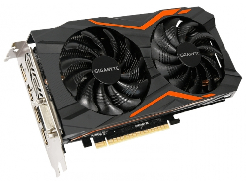 Видеокарта GeForce Gigabyte GeForce GTX 1050 Ti 1366Mhz PCI-E 3.0 4096Mb 7008Mhz 128 bit DVI 3xHDMI HDCP G1 Gaming, вид 1