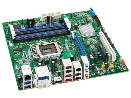 Материнская плата Intel DQ67SW-B3 (mATX, LGA1155, Intel Q67-B3, 4xDDR3), вид 1