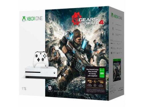 Игровая приставка Microsoft  Xbox One S с 1 ТБ памяти, Gears of War 4, подписка Live на 3 мес., вид 1