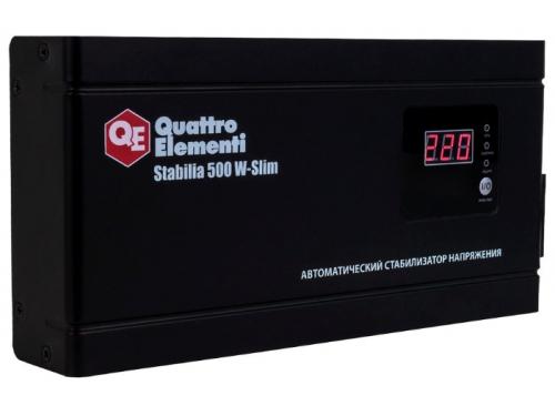 Стабилизатор напряжения Quattro Elementi Stabilia 500 W-Slim (релейный), вид 1