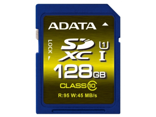 Карта памяти SDXC 128Gb class10 A-DATA Premier Pro UHS-I U1 95MB/s, вид 1