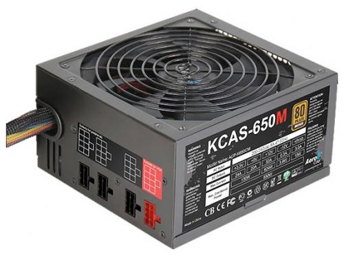 Блок питания AeroCool KCAS-650M 650W, вид 1
