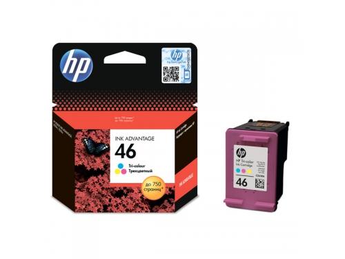 Картридж HP 46, струйный, цветной, вид 1