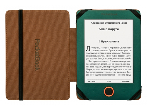 Чехол для ebook PocketBook для 515, чёрно-бежевая, вид 5