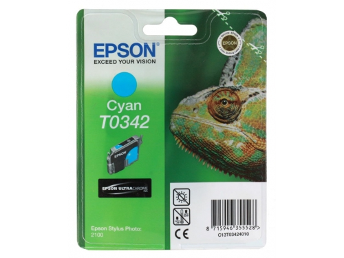 Картридж Epson T0342 голубой, вид 1