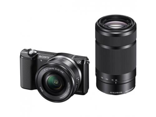 Цифровой фотоаппарат Sony Alpha A5000 Double Kit (SEL-1650 + SEL-55210), черный, вид 4