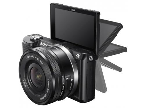 Цифровой фотоаппарат Sony Alpha A5000 Double Kit (SEL-1650 + SEL-55210), черный, вид 5