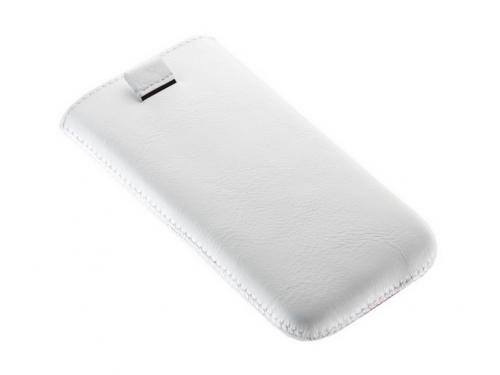 Чехол для смартфона Time с ремешком, комбинированный, размер 14 (62х121х11 мм), искусственная кожа, белый с красным, вид 3
