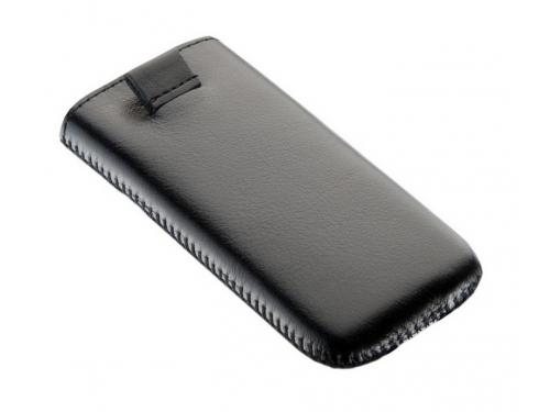 Чехол для смартфона Time с ремешком, комбинированный, размер 14 (62х121х11 мм), искусственная кожа, черный с красным, вид 2