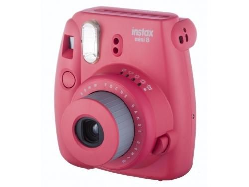 Фотоаппарат моментальной печати Fujifilm Instax Mini 8, малиновый, вид 2